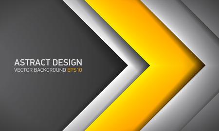 Contexte abstrait, intérieur jaune, couverture pour présentation de projet, conception de vecteur.