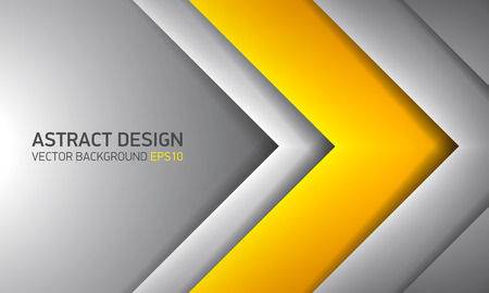 Abstract background, yellow inside, cover for project presentation, vector design. Ilustração