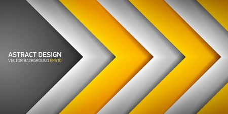 go inside: Abstract background, yellow and gray stripes, cover for project presentation, vector design