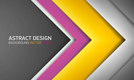 Abstract background, yellow and gray stripes, cover for project presentation, vector design