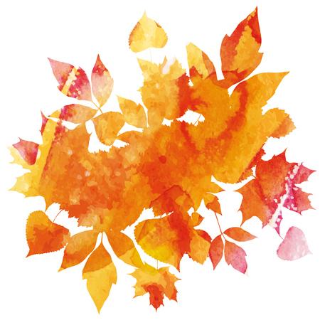 Golden autumn leaves icon. Illustration