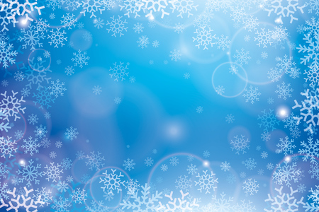 Christmas abstract background. Pattern of snowflakes, snow whirlwind for your winter project, vector design Illustration