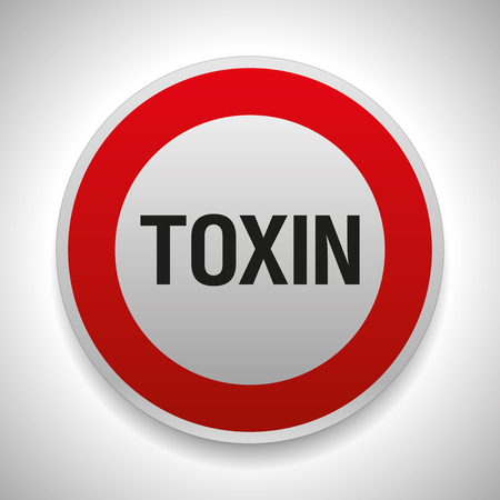 Warning sign, stop toxin, vector danger icon
