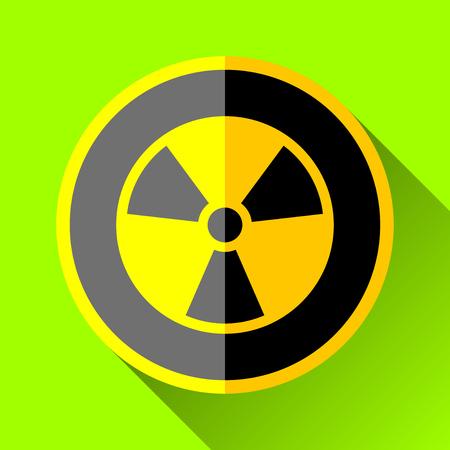 Radiation sign icon in black