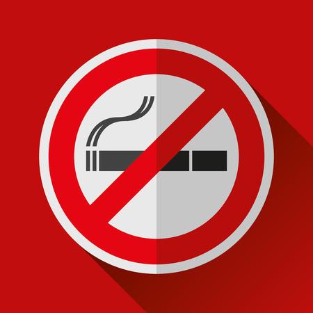No smoking sign. Stop cigarette symbol. Vector design Illustration