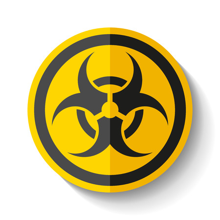 Biohazard sign icon in white background, toxic emblem, vector design illustration for you project