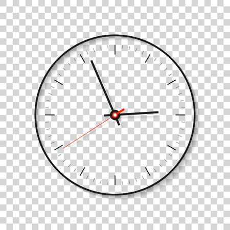 Simple Clock, minimalistic timer on transparent background.