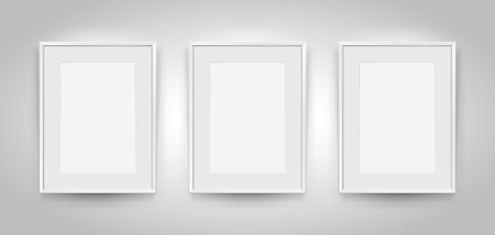 White frames mock up