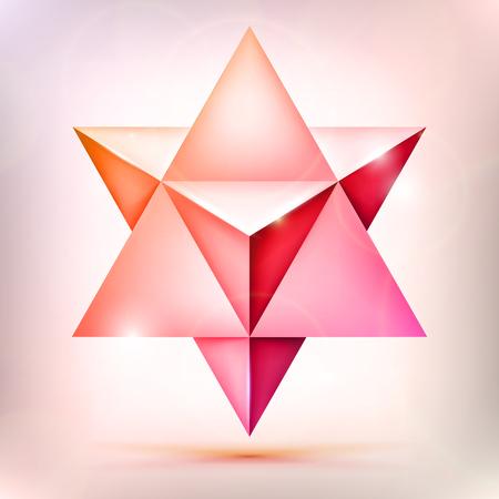3d merkaba, esoteric crystal, sacral geometry shape