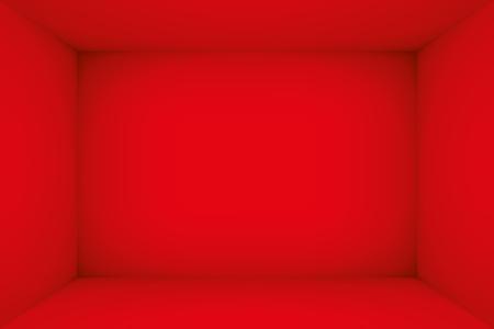 Leeres rotes Zimmer. Der Innenraum der Box. Vektor-Design-Illustration. Mock-up für Ihr Geschäftsprojekt Vektorgrafik