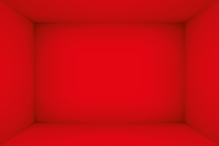 Empty red room. The inner space of the box. Vector design illustration. Mock up for you business project Illustration