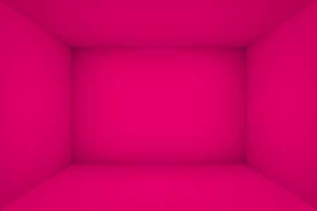 vEmpty pink room. The inner space of the box. Vector design illustration. Mock up for you business project Vettoriali