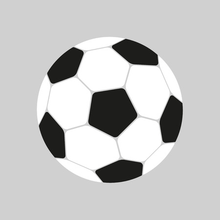 Football icon in flat style. Vector Soccer ball. Sport object for you design projects Illusztráció
