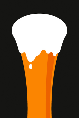 Glass of beer in flat style. Simple vector illustration