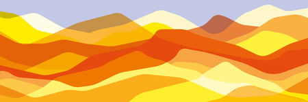 Color mountains, translucent waves, abstract glass shapes, modern background, vector design Illustration for you project Ilustrace