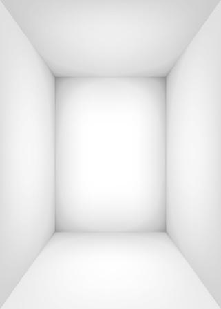 Leerer weißer Raum. Der Innenraum der Box. Vektor-Design-Illustration. Mock-up für Ihr Geschäftsprojekt