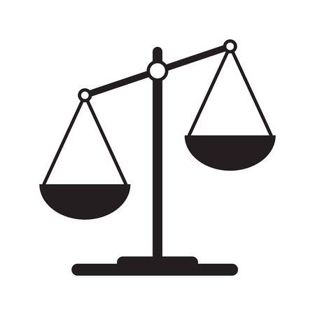 Icône d'échelles dans un style plat. Symbole de la Balance, signe d'équilibre. Élément de design vectoriel pour votre projet Vecteurs