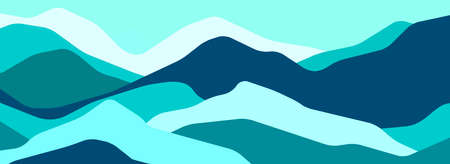 Multicolor mountains, translucent waves, abstract color glass shapes, modern background, vector design Illustration for you project