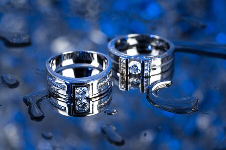 Diamond ring and reflection.