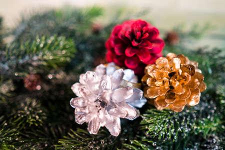 celebration: Christmas decoration as a background. Christmas decoration. Stock Photo