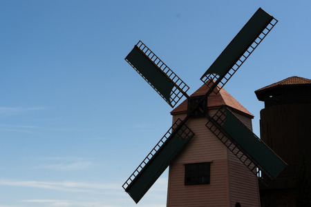 windmill with sky background Stock Photo