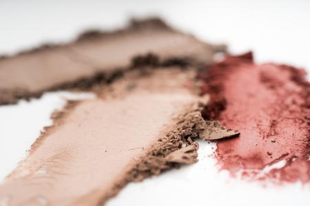 Eye shadows powders in brown color