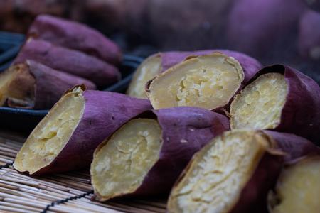 Sweet potato in violet color Stock Photo