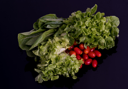 Vegetable salad include lettuce, and tomatos Zdjęcie Seryjne