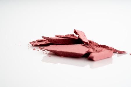 Crushed or broken eye pink color of shadow powder