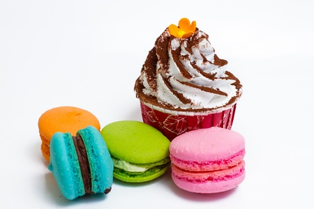 Cup Cake and Macaron photo