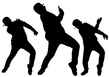 silhouette of hip-hop dancer vector files