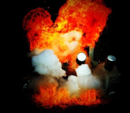 vehement: Explosion a flame Stock Photo