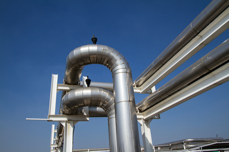 conductive: cooling pipe from industrial air system Stock Photo