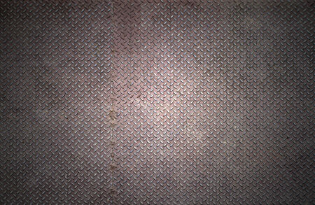 checker plate: Old checker plate background with rust condition.