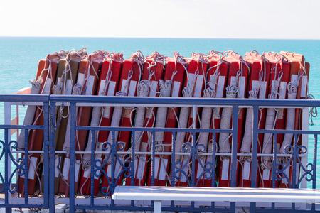buoy: buoy on boat, for passenger