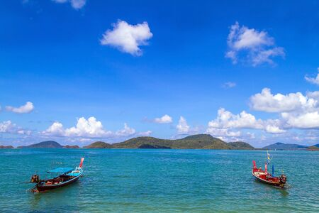 longtail: Traditional thai longtail boat, in Phuket Thailand