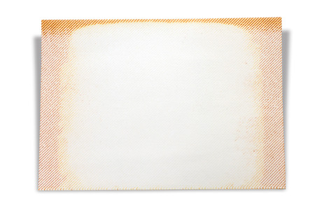 scrap book: Blank page of scrap book, isolated on white background