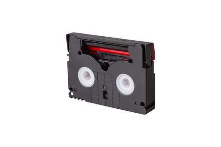 cassettes: Mini DV cassettes isolated on white background