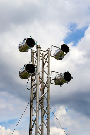 lighting system: Outdoor PAR spotlight on a lighting system for the stage