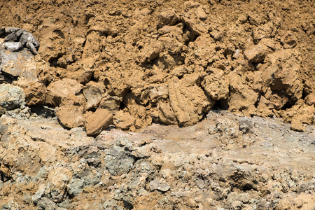 clod: Close up of mound in construction site
