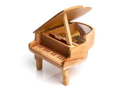 piano music box isolated on white background Reklamní fotografie