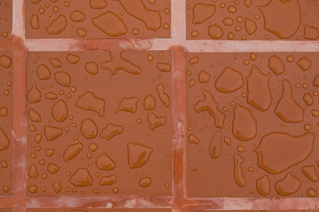 Drops of water on surface tiles