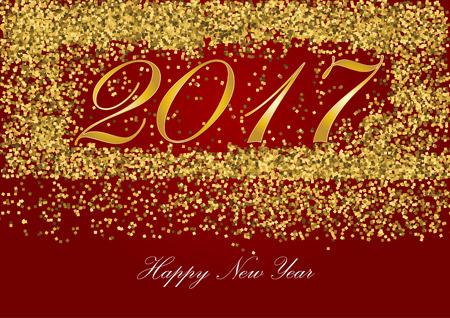 Goldener Brief Des Guten Rutsch Ins Neue Jahr 2017 Mit Goldfunkeln ...