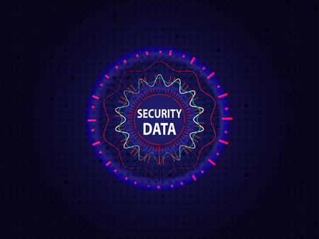 Abstract background for cyber security technology, Information cyber security concept. Vector illustration.