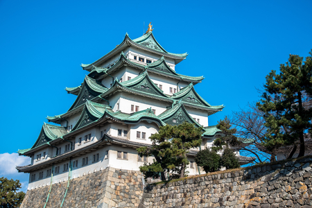 clear day: Nagoya Castle on a Clear Day
