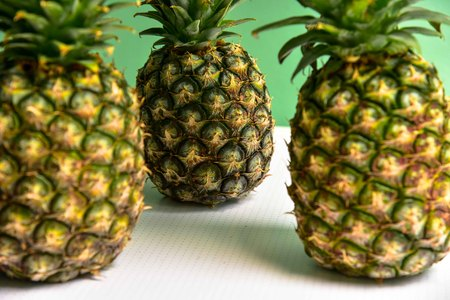 Group of Fresh Pineapples