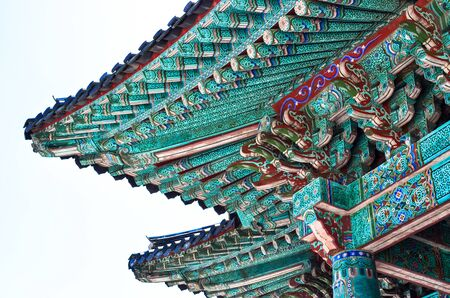 Traditional Korean Roof Eves in Gyeongju, South Korea