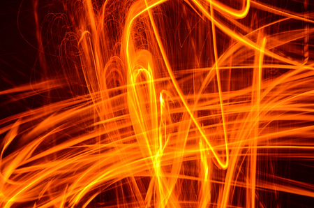 Abstract Flame in Motion