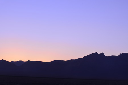 Purple Sunset over Zagros Mountains in Iran
