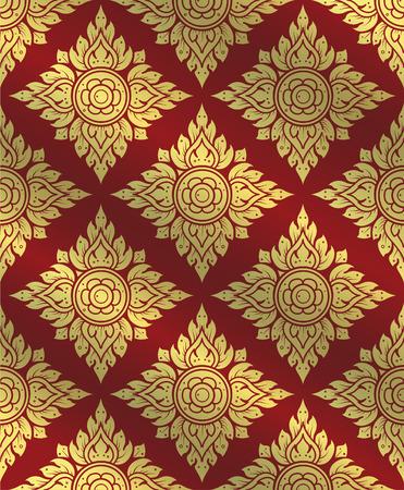 line thai: Thai art pattern Traditional Thai background line Thai vector